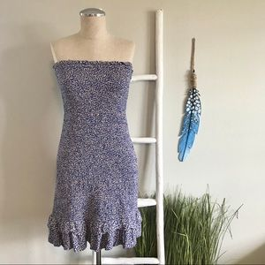NEW American Eagle | Blue Smocked Tube Dress